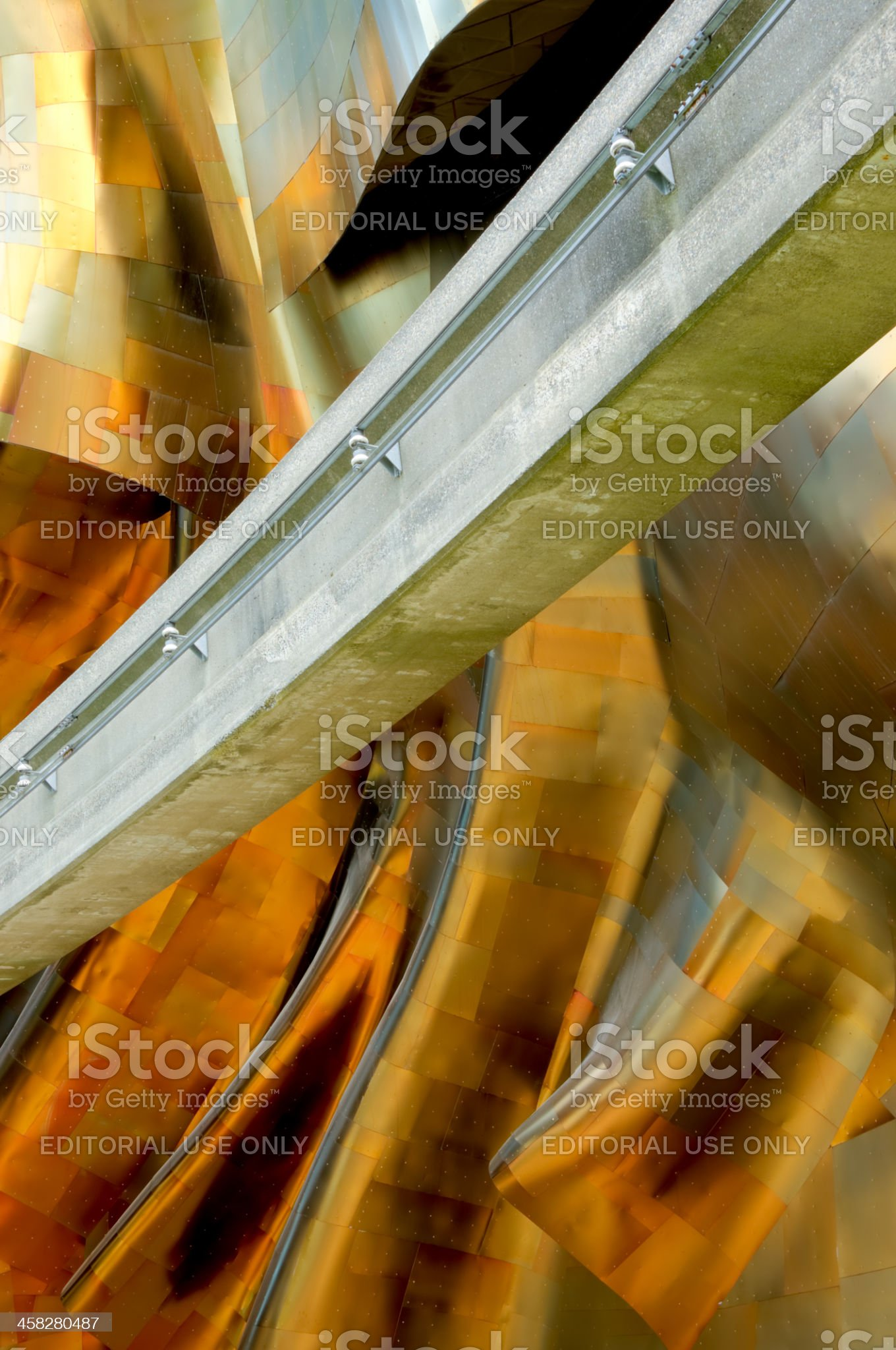 Metal and Concrete royalty-free stock photo