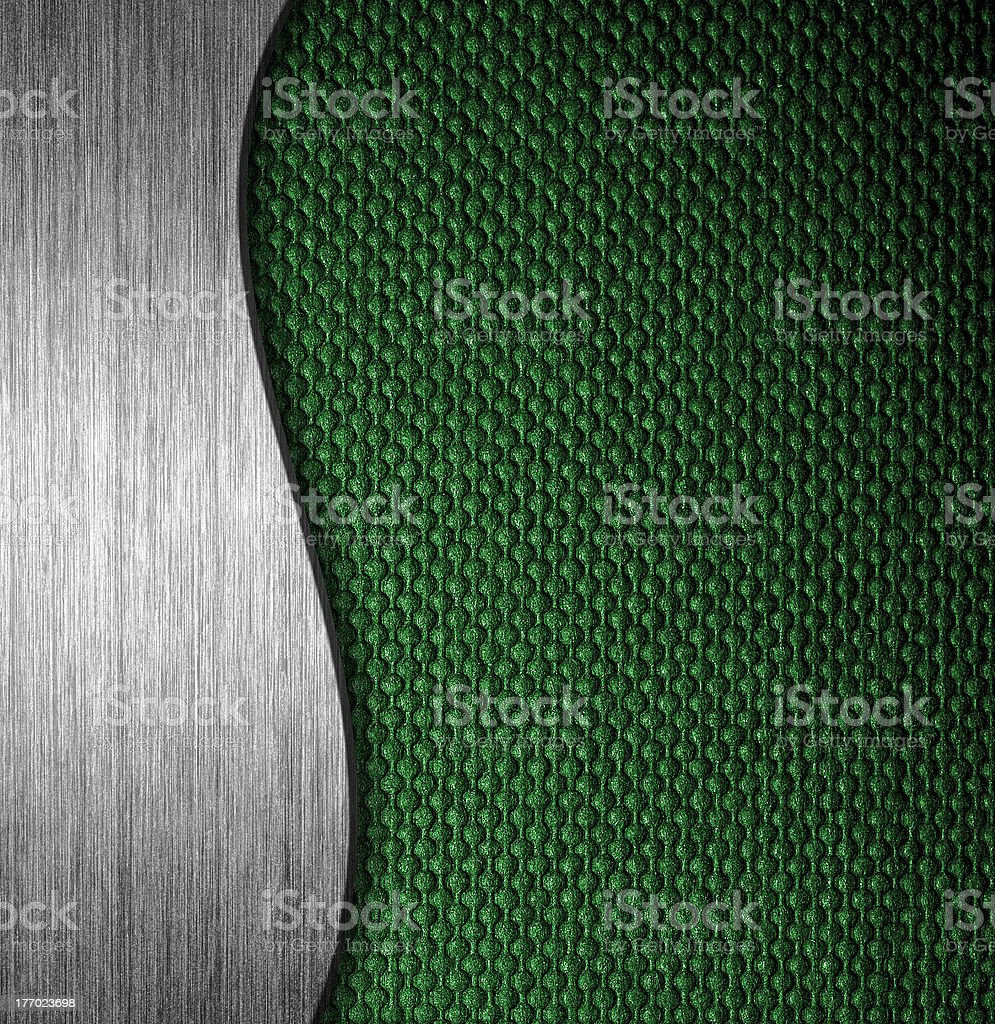 metal and fabric material template background royalty-free stock photo