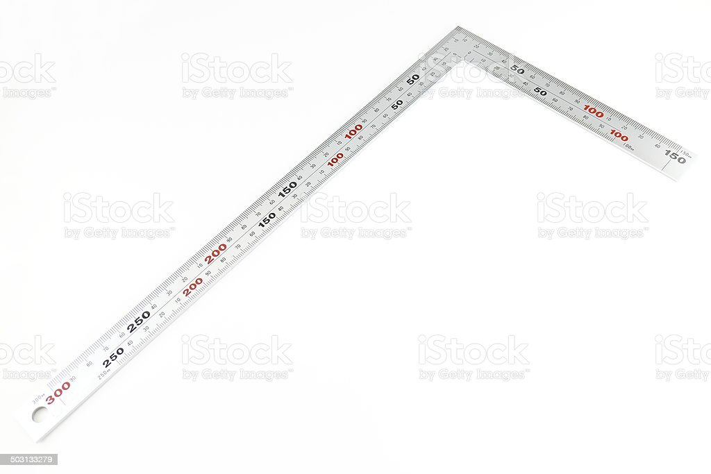 Metal angle on white background royalty-free stock photo