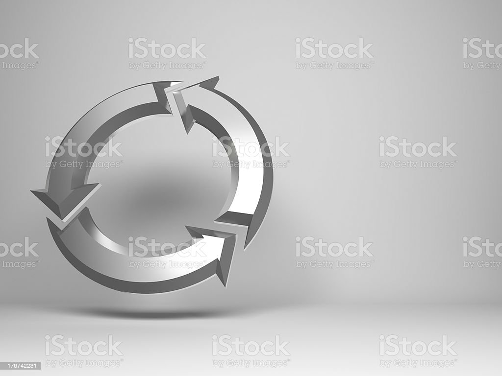 metal Arrows sign royalty-free stock photo