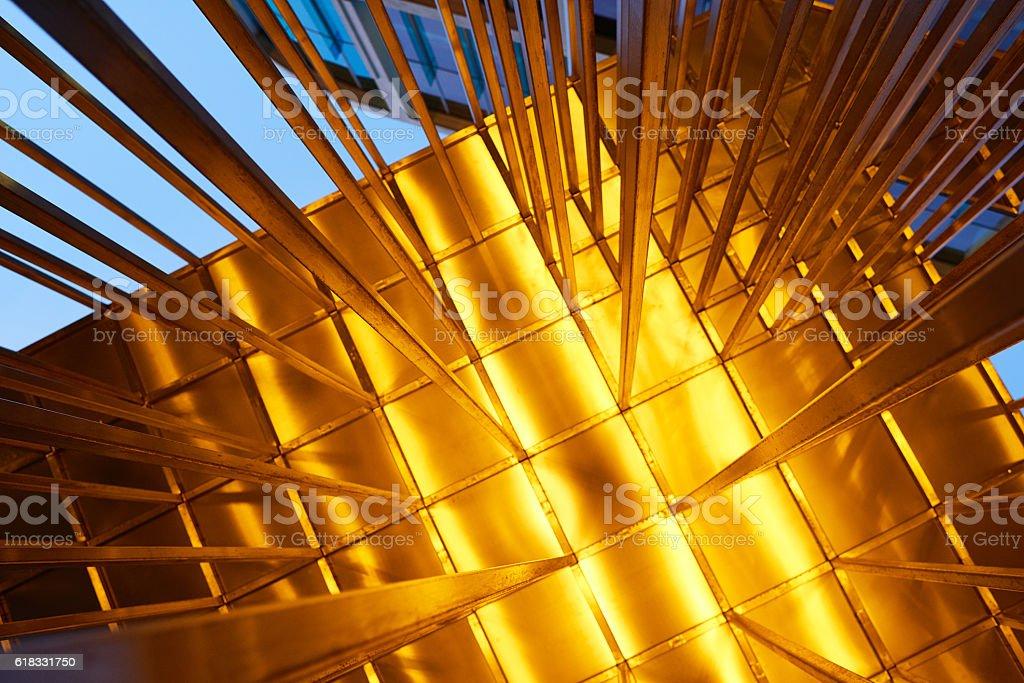 Metal awning stock photo