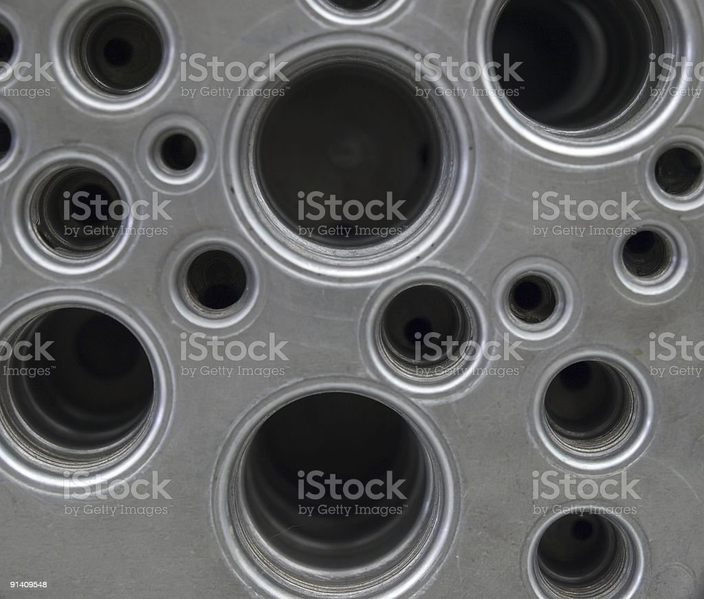 Metal background with apertures royalty-free stock photo