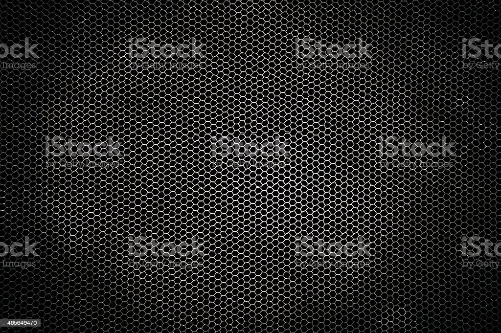 Metal background with light shaded in the middle stock photo