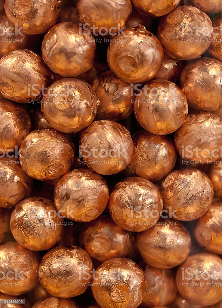 Metal balls in copper bronze royalty-free stock photo