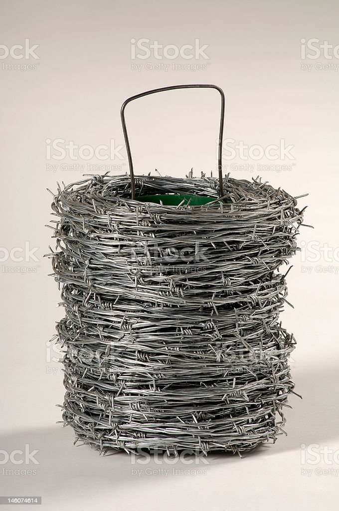 Metal barbed wire royalty-free stock photo