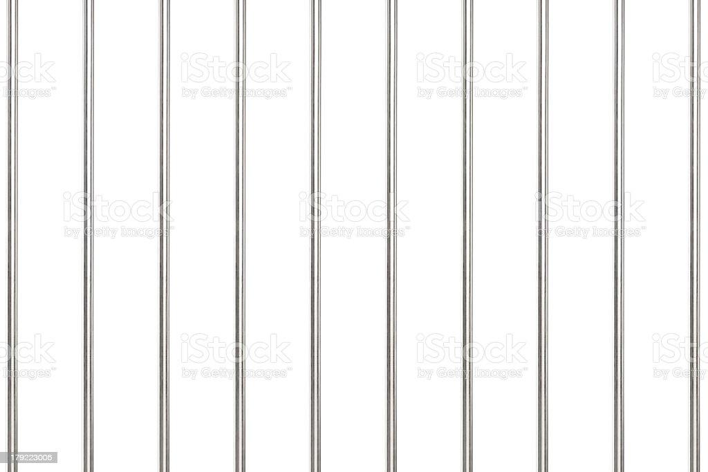 Metal bars in prison stock photo