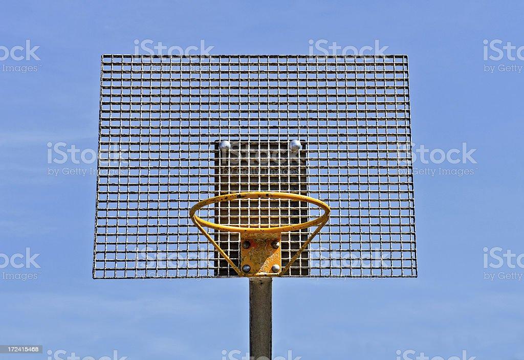 Metal Basketball Hoop royalty-free stock photo