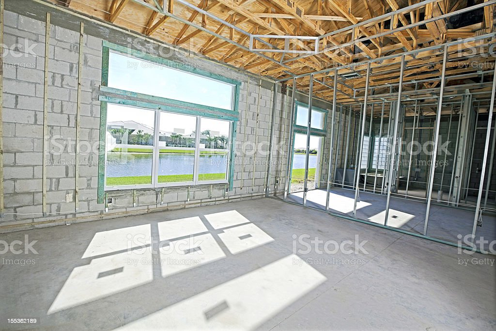 metal beam construction royalty-free stock photo