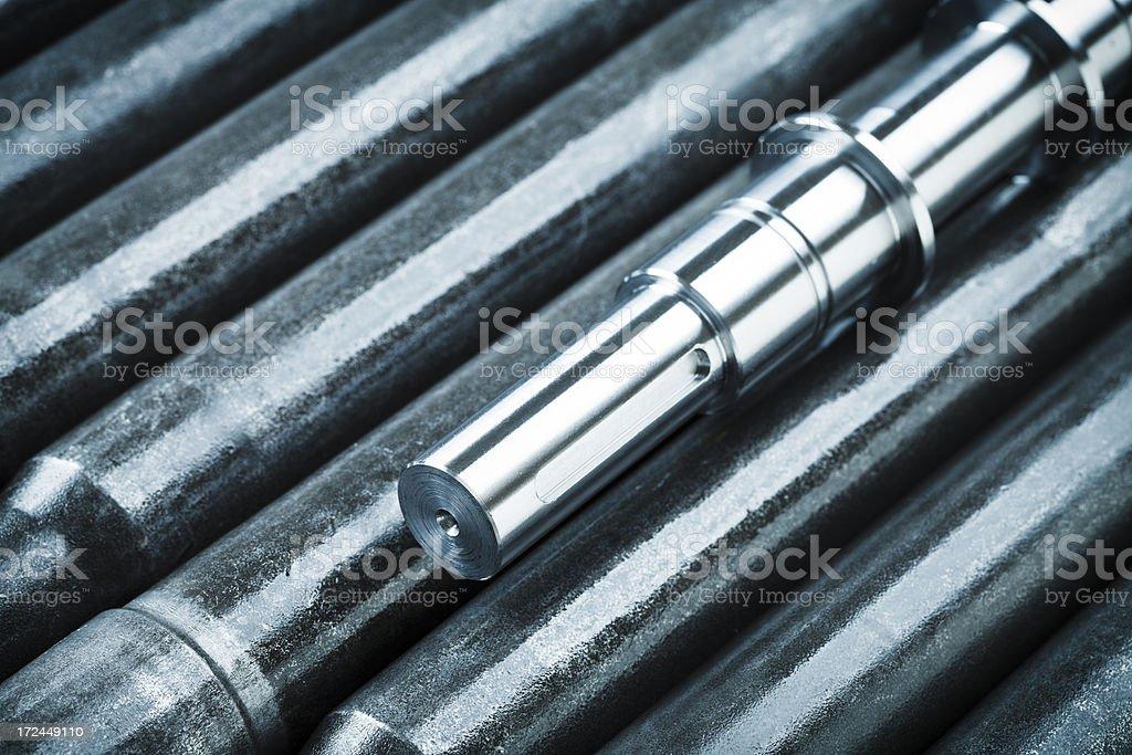 metal billet machining. royalty-free stock photo