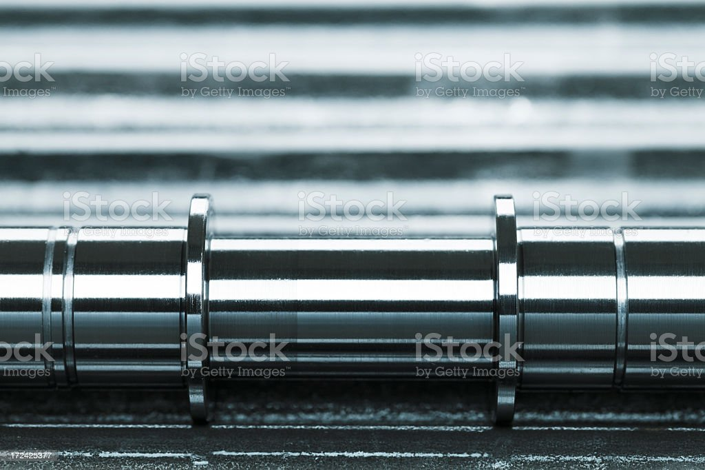 Metal blank machining. royalty-free stock photo
