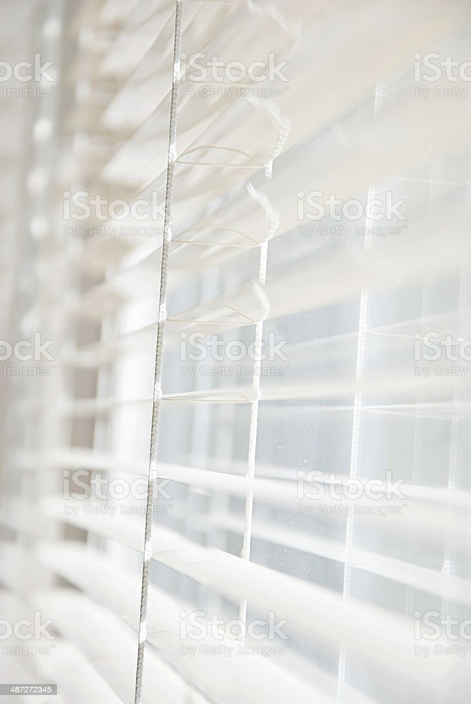 Metal Blinds with drawstring. Roller Shutter Background stock photo