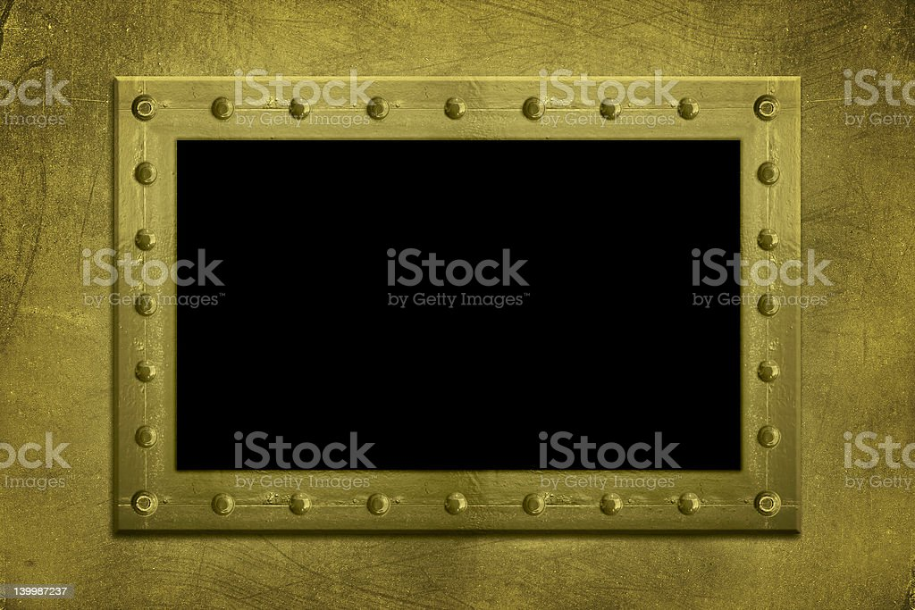 Metal Bolted frame royalty-free stock photo