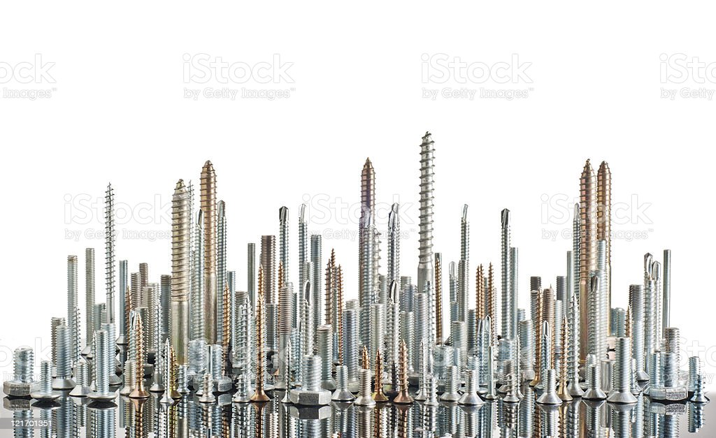 Metal bolts stock photo