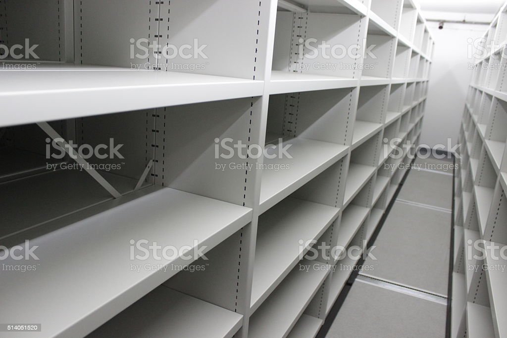 Metal book racks stock photo