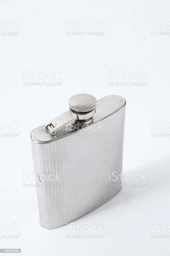 Metal Bottle for Liquors royalty-free stock photo