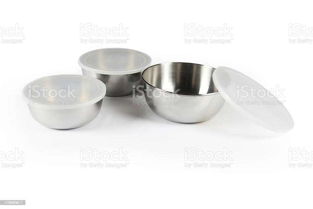 Metal bowl stock photo