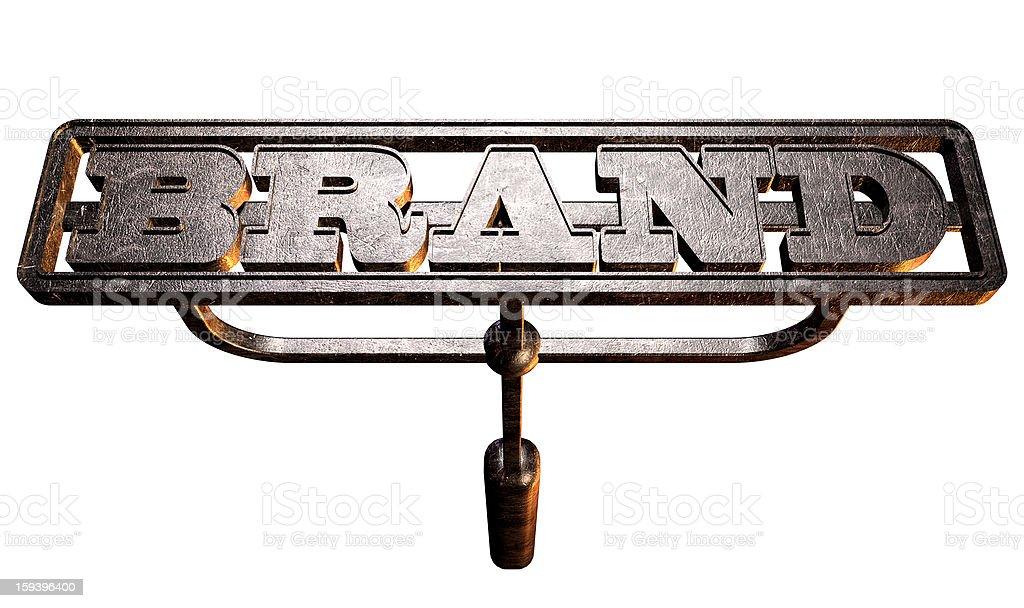 Metal Branding Brand Front stock photo