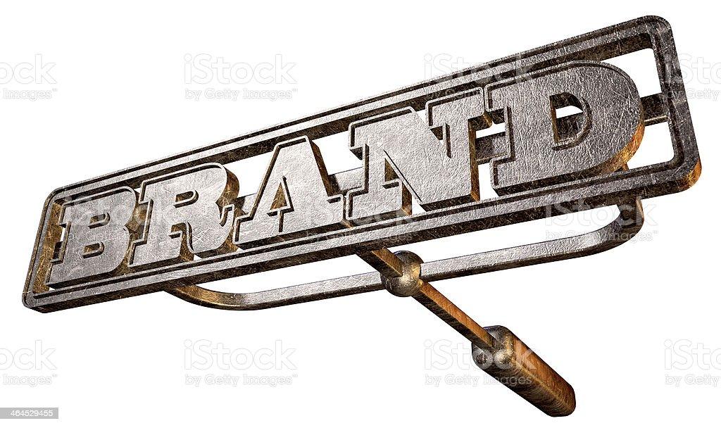 Metal Branding Brand Perspective stock photo