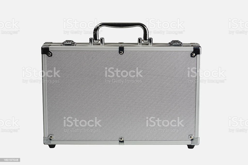 Metal briefcase stock photo