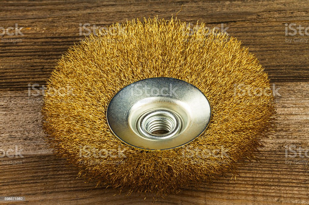 metal brush stock photo