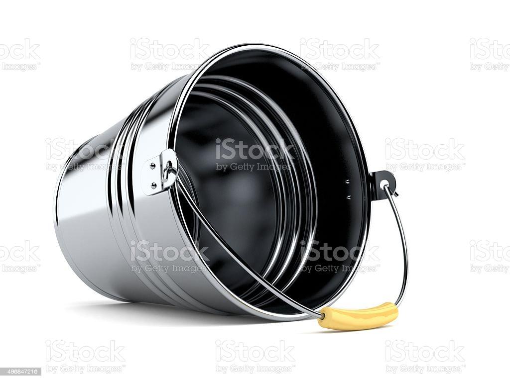 Metal bucket stock photo