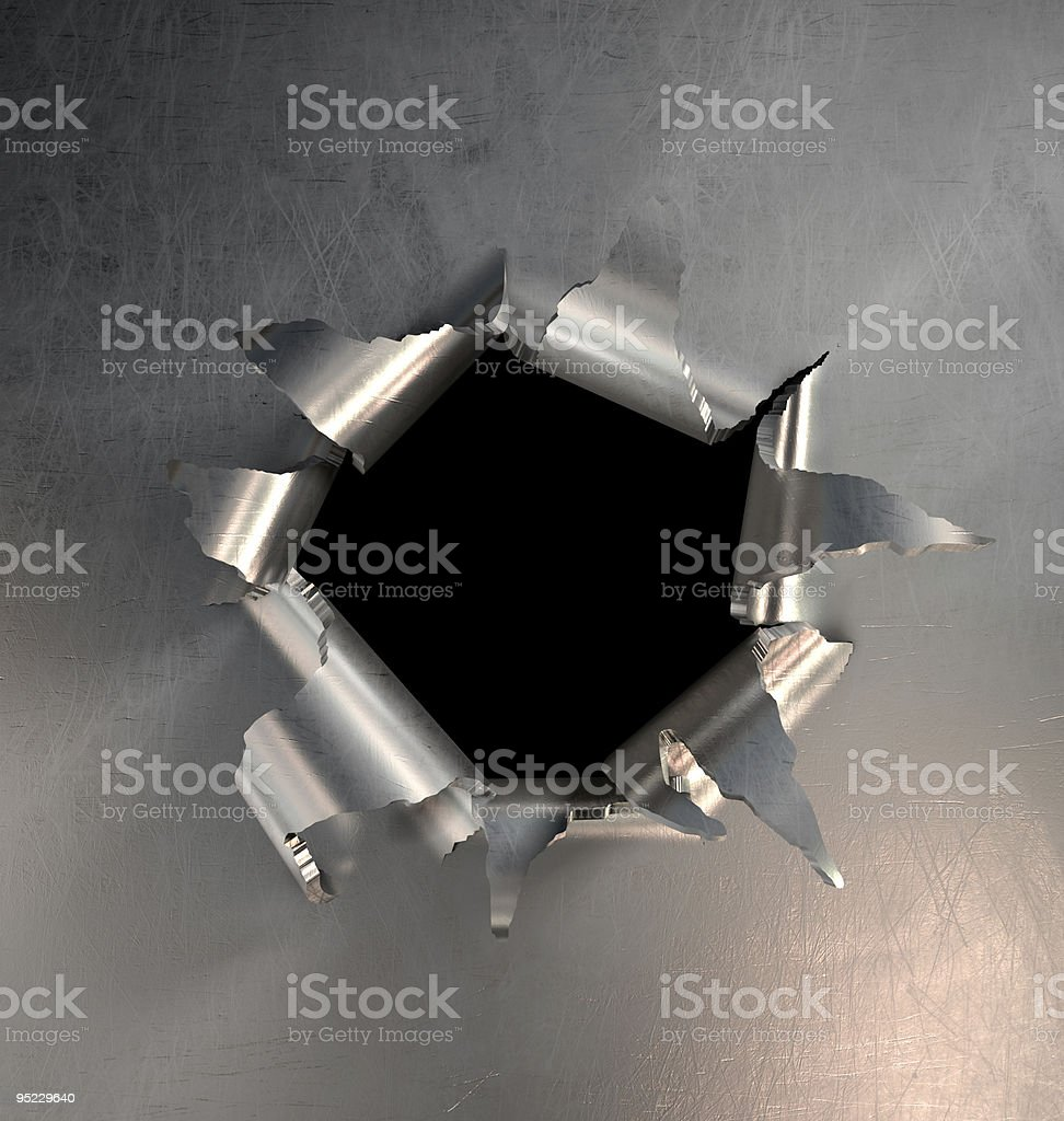 Metal Burst stock photo