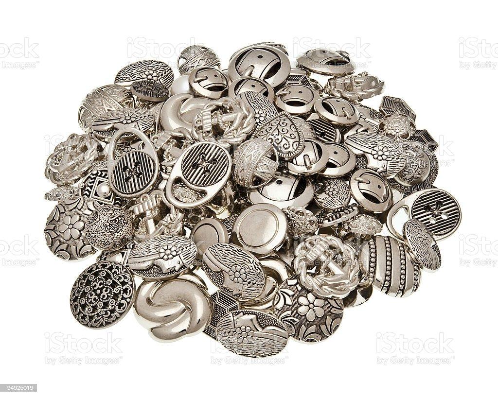 Metal Button stock photo