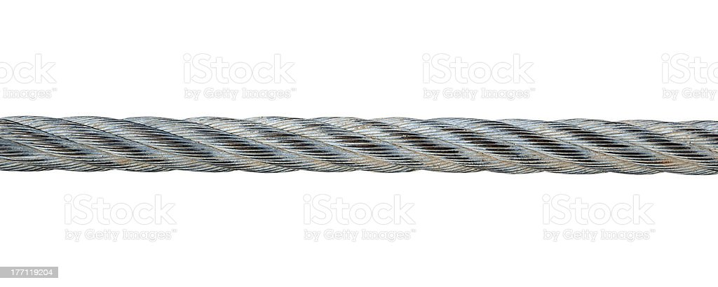 Metal cable stock photo