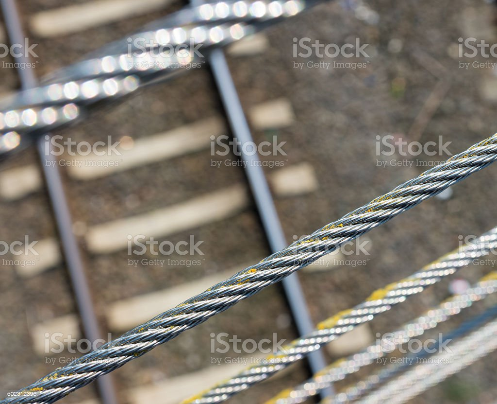 metal cables stock photo