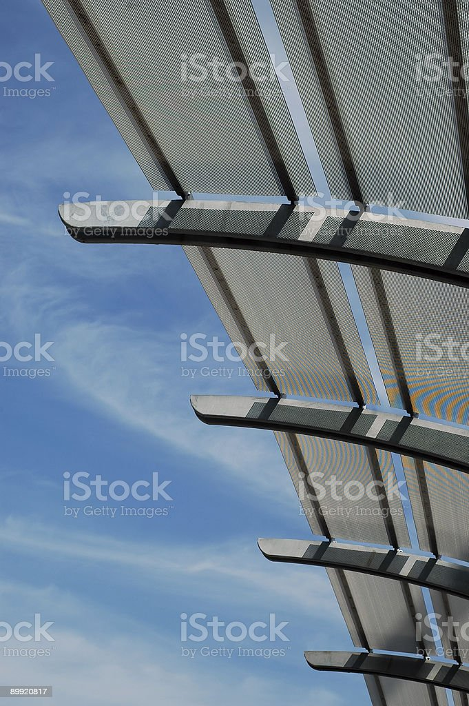Metal Canopy Close Up royalty-free stock photo