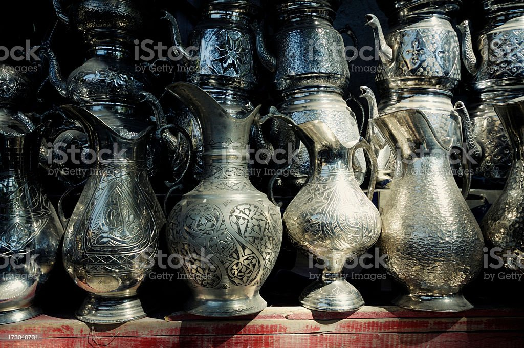 Metal Carafes royalty-free stock photo