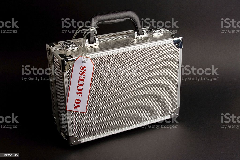 Metal case: No Access royalty-free stock photo