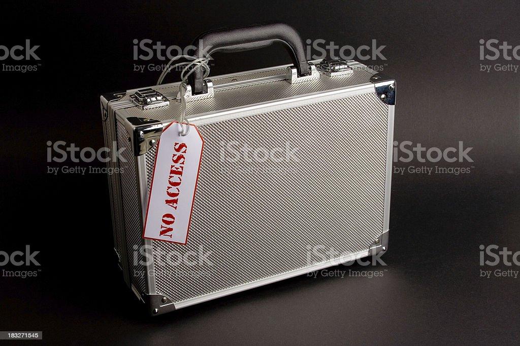 Metal case: No Access stock photo
