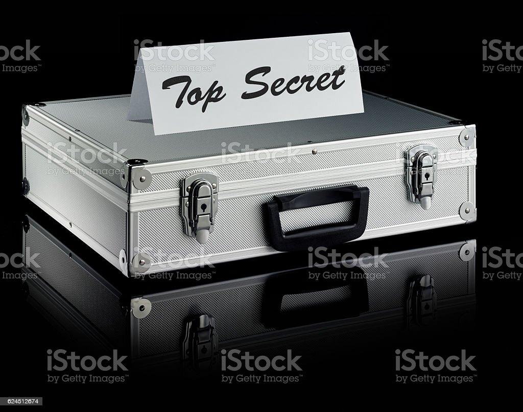 Metal case: Secret stock photo