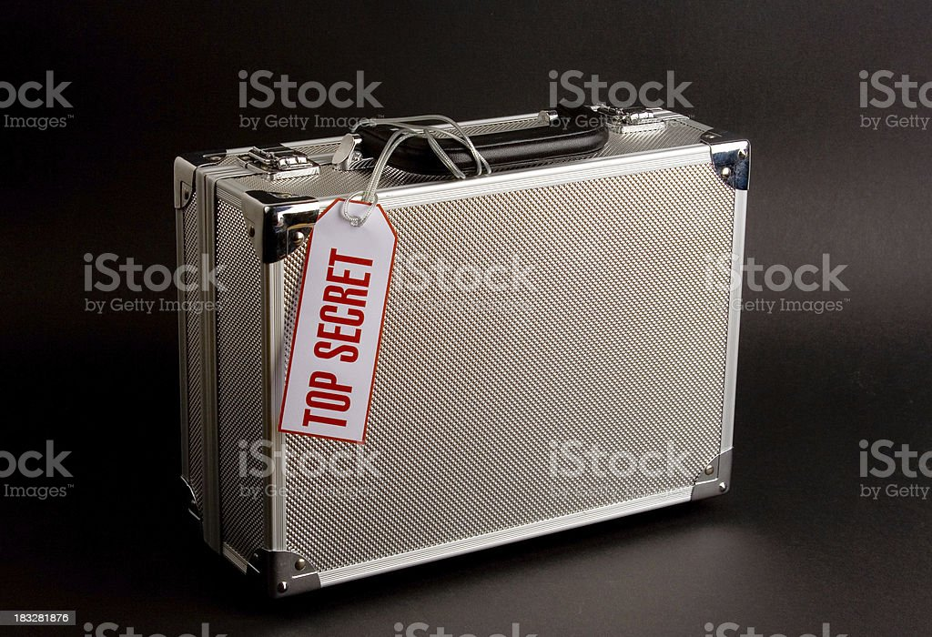 Metal case: Top Secret stock photo