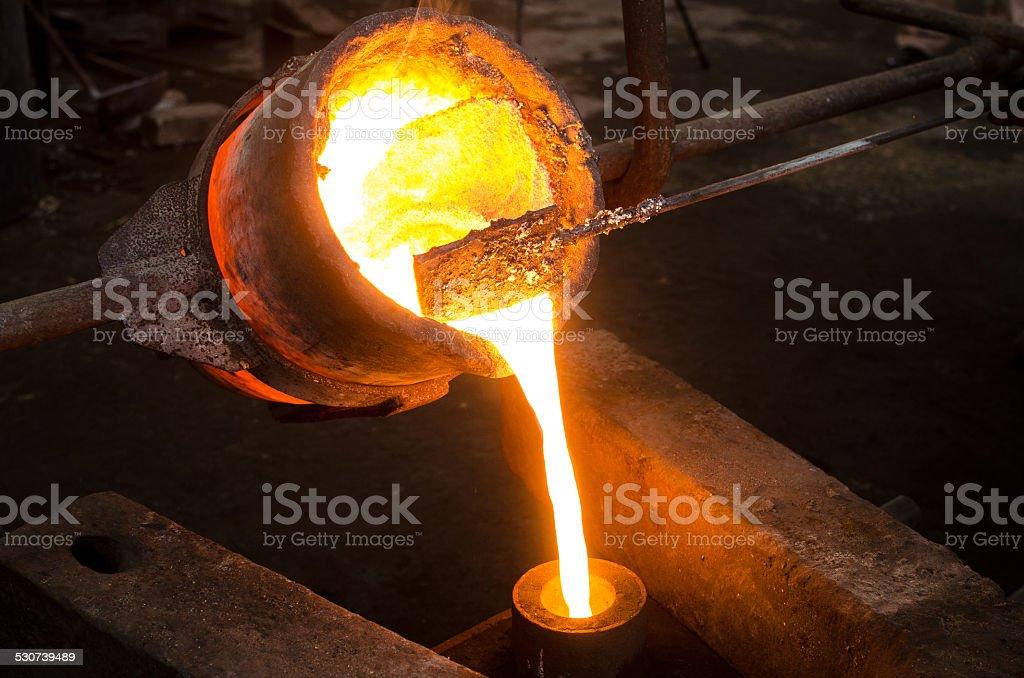 Metal Casting 2 stock photo