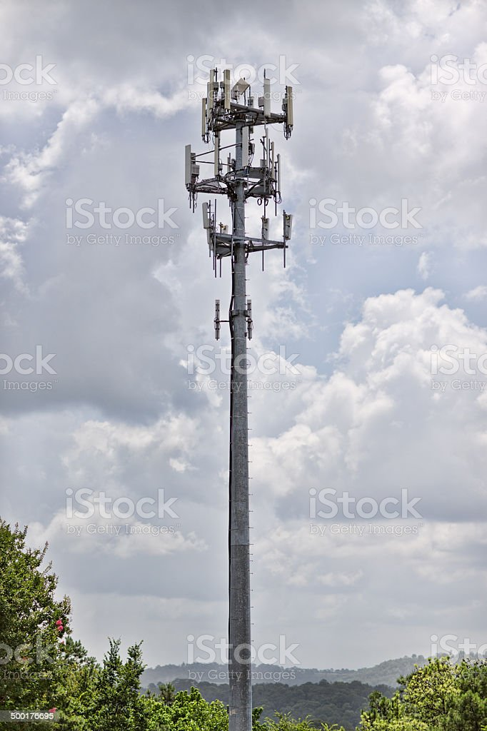 Metal Cell Tower stock photo