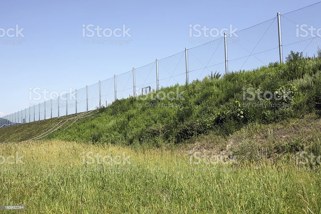 metal chain link with blue sky royalty-free stock photo