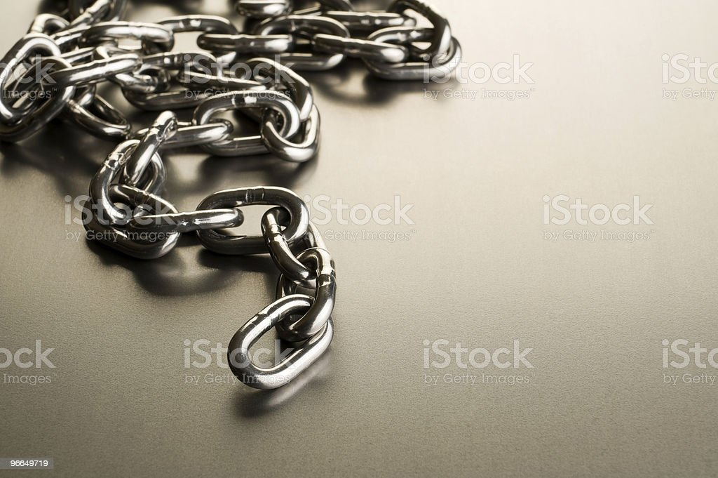 Metal chain royalty-free stock photo