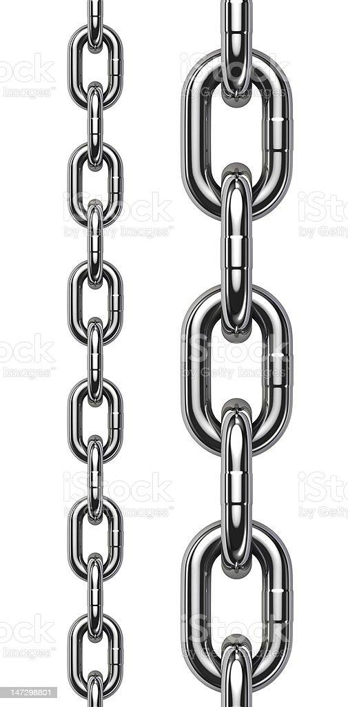 Metal chain tiled stock photo