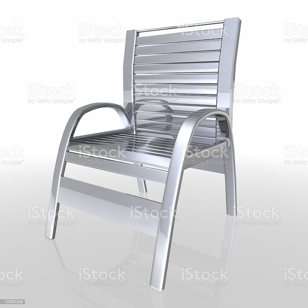 Metal chair stock photo