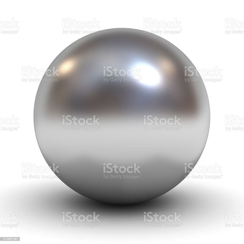Metal Chrome Sphere stock photo