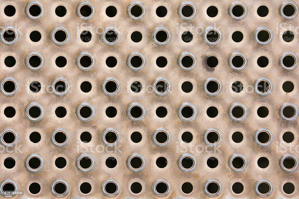 Metal circle grunge background stock photo