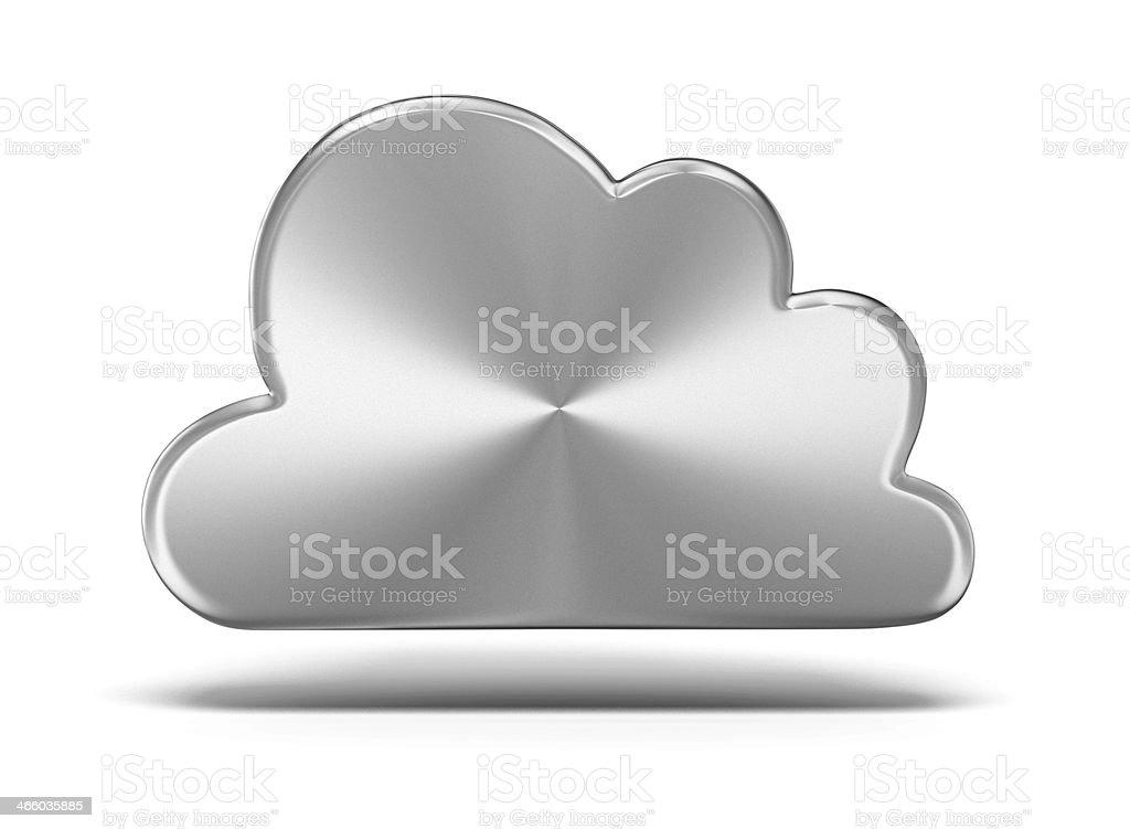 Metal cloud stock photo