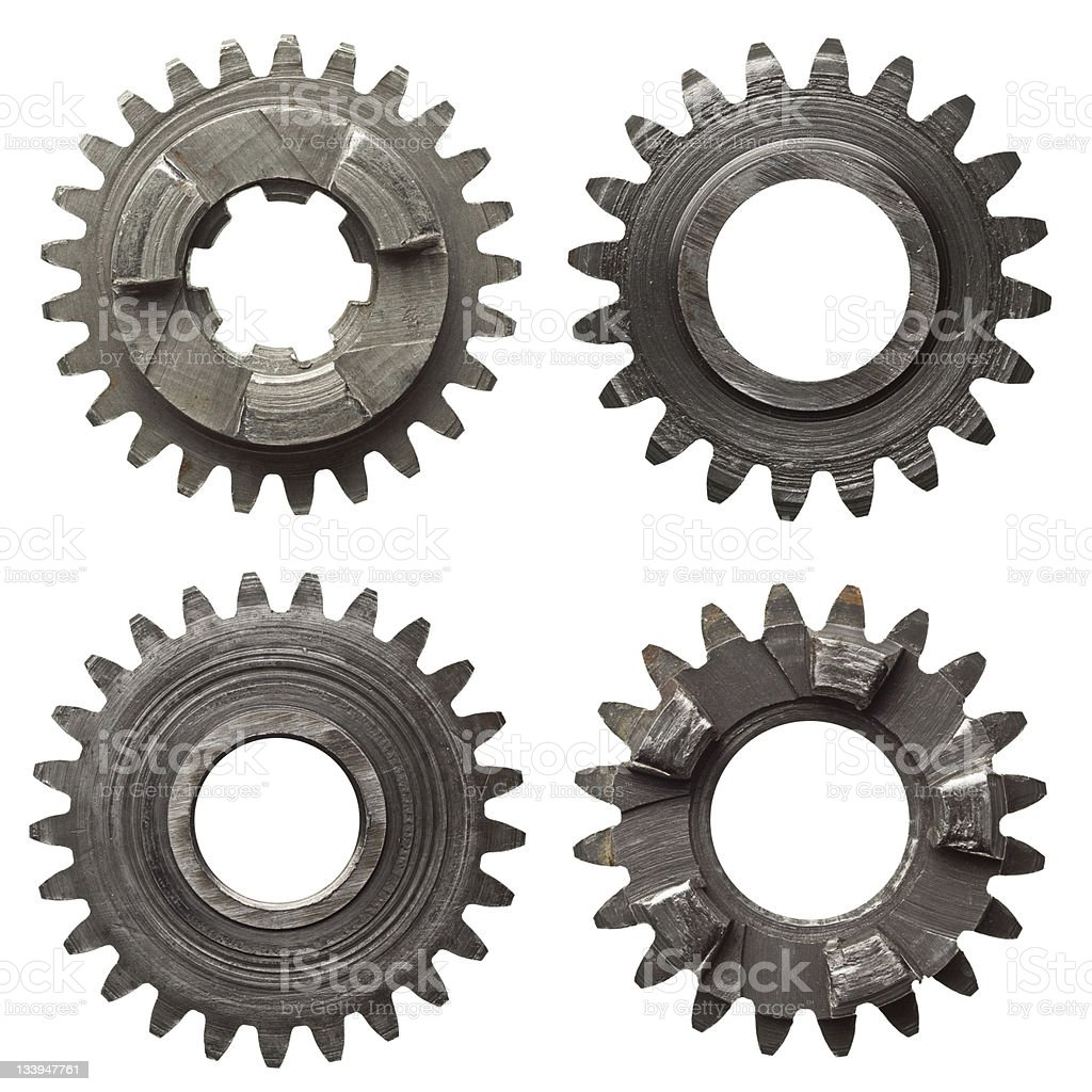 metal cogwheels stock photo