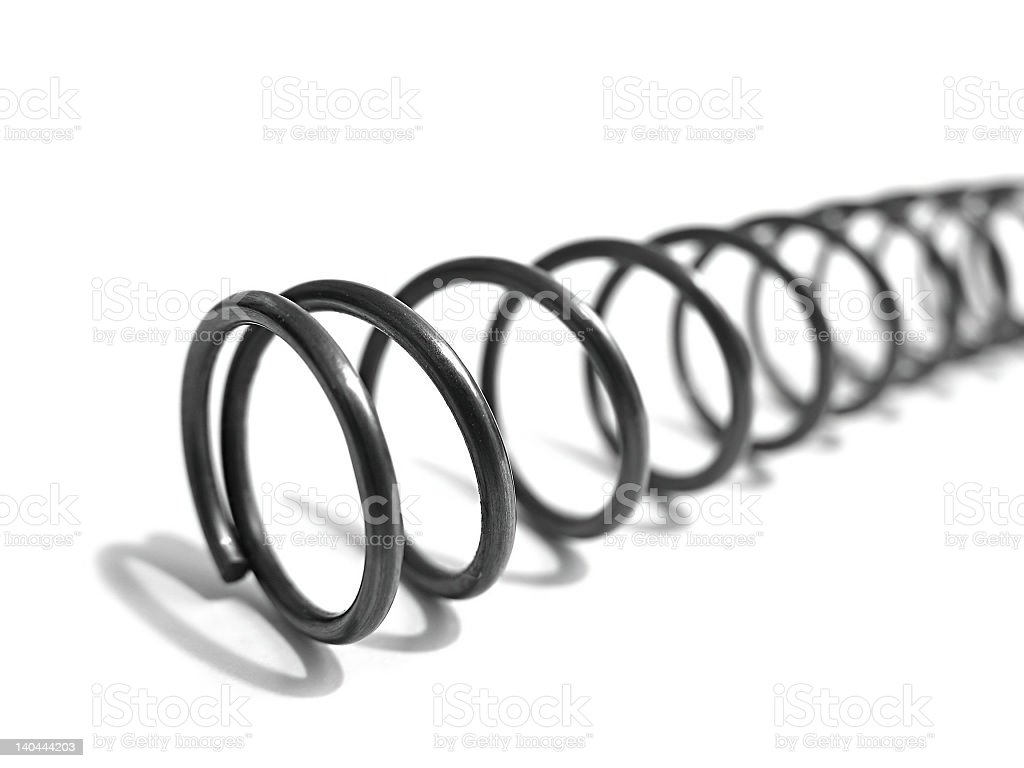 Metal Coil Spring royalty-free stock photo