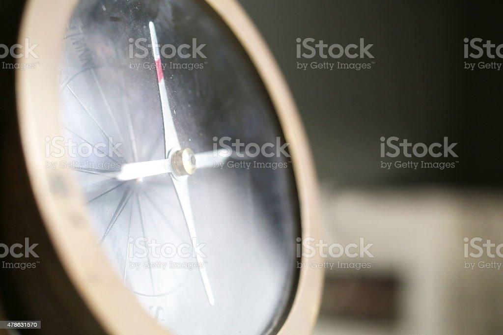 Metal Compass closeup stock photo