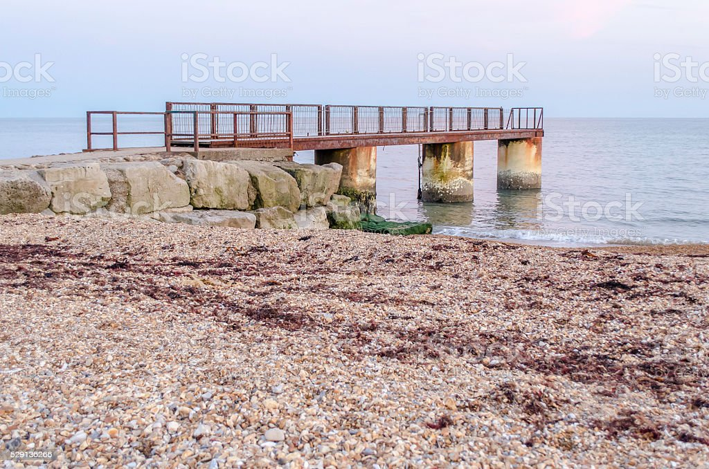 Metal & Concrete Jetty royalty-free stock photo