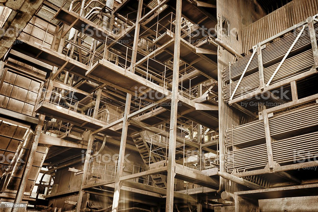 Metal construction - abandoned industrial area royalty-free stock photo