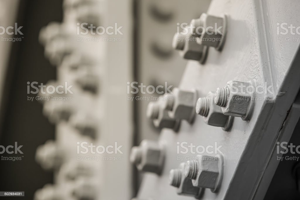 Metal Construction Detail stock photo